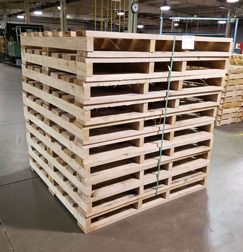 Heat Treatment of Wooden Pallets in Illinois